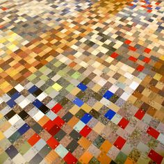 A floor made from Formica® laminate samples - originally Pinned by Formica, who'd have thought they'd be cool with that?!