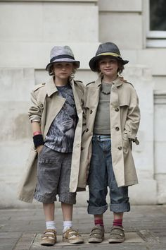 Max & Joe photographed in London by The Sartorialist  for Burberry's Art of the Trench