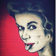 Grimace!  #streetart #street #streetphotography #igerslondon #instalondon #urban #urbanart #urbanwalls #wall #wallporn #graffitiigers #stencilart #art #graffiti #instagraffiti #london #artwork #mural #stickerart #pasteup #instagraff #instagrafite #streetarteverywhere #vsco #shoreditch #grimace