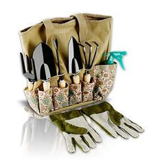 Scuddles Garden Tools Set 8 Piece Heavy Duty Gardening tools With Storage Organizer Ergonomic Hand Digging Weeder Rake Shovel Trowel Sprayer Gloves Gift for Men & Women Garden Tool Bag, Best Garden Tools, Garden Tool Storage, Box Garden, Planting Tools, Gardening Tools, Organic Gardening, Gardening Vegetables, Hydroponic Gardening