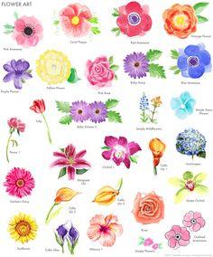 Hand-painted flower garden invitation art by Michelle Mospens / MospensStudio.com
