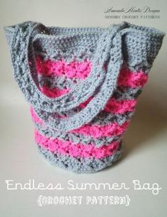 INSTANT Download - Endless Summer Bag CROCHET PATTERN Purse/Handbag Pdf File - Permission to sell finished item by Divonsir Borges