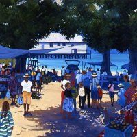 Port Douglas Sunday markets Art Oil, Dolores Park, Projects To Try, Street View, Landscape, Sunday, Travel, Acrylic Paintings, Artists