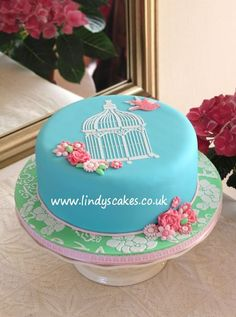 Taken from victorian birdcage designs, I have created a detailed cake top stencil that can make any ordinary cake stunning!