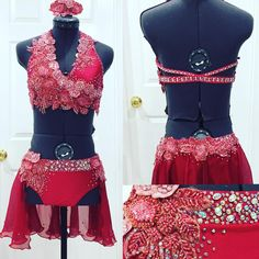 Custom made dance costumes