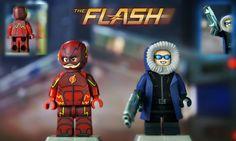 LEGO CW : The Flash & Captain Cold   by MGF Customs/Reviews Marvel Dc, Lego Marvel, Lego Batman, Lego Custom Minifigures, Lego Minifigs, The Flash Captain Cold, Legos, Halo Figures, Lego Dc Comics
