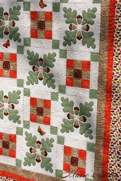 "Details ""Oak leaf"". Made by Marie's quilts. http://mquilts.blogspot.com"