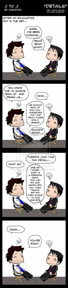 J to J: Details (feat. Misha and Mark) by KamiDiox.deviantart.com on @deviantART LOL :)