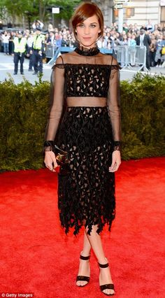 Alexa Chung in Erdem @ The Met Gala 2013