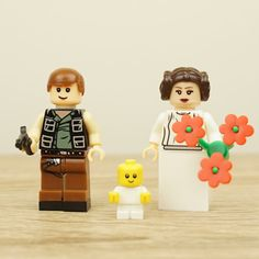 Star Wars wedding cake topper Han Solo and Leia by Mylegoideas