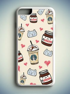 Tumblr Girl iPhone 6S Case, Tumblr iPhone 6 Case, Nutella iPhone s Case, Nutella…