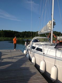 Sailing harbour, Iniö, Finland ( not our boat)