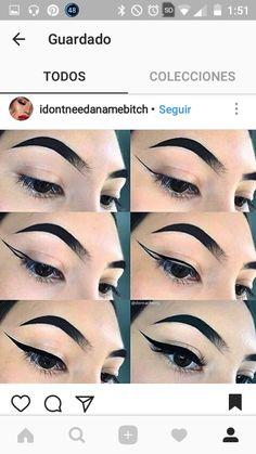 Image gallery – Page 422423640046870744 – Artofit Simple Makeup Tips, Unique Makeup, Pretty Makeup, Makeup Looks, Goth Makeup, Lip Makeup, Beauty Makeup, Cat Eye Eyeliner, Smokey Eye Makeup