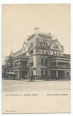 Usville Pa Mansion House With Nearby Pub Tuck Circa 1905
