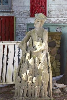 Welcome to Lori Kennedy Quilts Witch House, Outsider Art, Sculpture Art, Garden Sculpture, Good Old, Artist Art, Art History, Folk Art, Graffiti