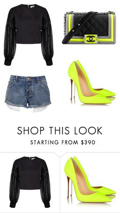 """""""<3"""" by martina-vacca ❤ liked on Polyvore featuring BIG PARK, Christian Louboutin and Chanel"""
