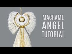 MACRAMÉ ANGEL TUTORIAL - YouTube Macrame Wall Hanging Patterns, Macrame Patterns, Diy Christmas Ornaments, Christmas Angels, Xmas, Diy Angels, Macrame Owl, Macrame Tutorial, Diy Tutorial