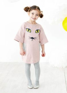 Funky girl clothing - Baobab - Dusty Pink Cat Dress Price: Was $44.95 Now $ 20.95  Stylish, fun with just the right dash of quirky! Adorable 3/4 sleeve loose fit girls cat dress by Baobab!   https://www.littlebooteek.com.au/product/baobab-dusty-pink-cat-dress . Funky girl clothing - Baobab