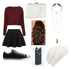"""""""outfit 17"""" by girlybunny ❤ liked on Polyvore featuring Boohoo, Converse, Oasis, Forever New and H&M"""