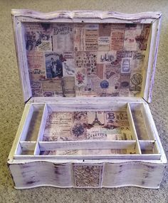 Shabby chic altered sewing box
