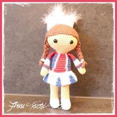Tanzmariechen häkeln - Anleitung kostenlos - Dancing girl /  Cheerleader - crochet pattern free