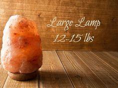 SALE  LARGE 12-15 lb Himalayan Salt Rock Natural Lamp by ELEMEANTS