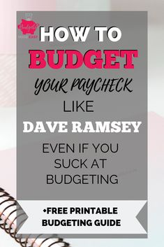 budgeting finances Learn how to budget like Dave Ramsey. Plus get a free printable guide so you can learn how to budget for beginners. Even on a monthly or bi-weekly paycheck. These budgeting tips will help you budget and save money fast. Money Saving Challenge, Money Saving Tips, Money Tips, Money Plan, Money Savers, Saving Ideas, Budgeting Finances, Budgeting Tips, Personal Finance