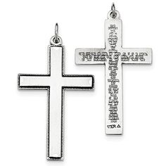 Bonyak Jewelry 18 Inch Rhodium Plated Necklace w// 6mm White April Birth Month Stone Beads and Our Lady of All Nations Charm