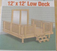 12x12 Deck Plans Bing Images 12 X 12 Deck Pinterest