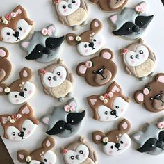 Woodland animal cookies for a boho woodland baby shower