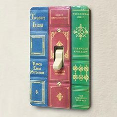 Book Spine Light Switch Cover / Bas Bleu
