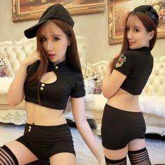 มากันอีกรอบ ชุดคอสเพลย์เซ็กซี่ ตำรวจสาวผ้ายืด เอวลอยสุดเซ็กซี่ พร้อมหมวกแก๊ปสุดเท่ พร้อมส่งจ้า สั่งเลยเด่วหมดนะคะ