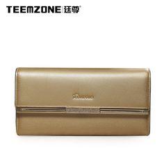 Women Lady Leather Patent Pouch Flap Clutch Handbag Long Designer Wallet