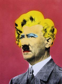 Hitler with Marilyn Monroe Overlay, by Mr. brainwash. Pop Art.