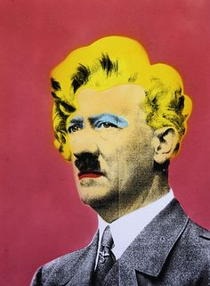 Hitler with Marilyn Monroe Overlay, by Mr. brainwash. Pop Art.