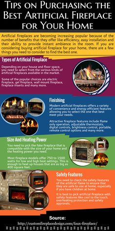Artificial fireplaces are called by different names like faux fireplaces and decorative fireplaces. Irrespective of the names, they add charm and beauty to any place without the smoke and mess ashes. For More Information about Artificial Fireplace, please check http://customfireplacedesign.com/faux-fireplace/