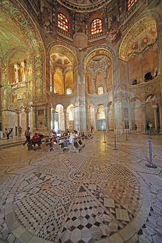 #Mosaics in San Vitale - Ravenna, Italy.