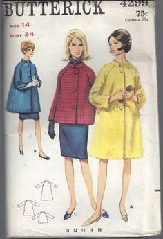 1960s Misses Coat Jacket Raglan Sleeves Pattern Uncut by SelmaLee, $8.99