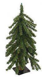 2' Downswept Woodland Alpine Artificial Christmas Tree