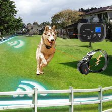 Tiger 2 Receiver Electric Dog Fence with Rechargeable Shock Collar, Wire In-Ground Invisible Dog or Cat Containment Fence System 01 -- See this great product. (This is an affiliate link) Fence Landscaping, Backyard Fences, Pool Fence, Invisible Fence, Wireless Dog Fence, Shock Collar, Aluminum Fence, Metal Fence, Modern Fence
