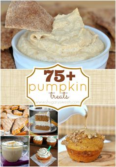 75+ delicious pumpkin recipes from around the web. Come find what you're looking for!