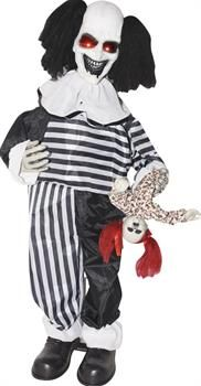 Creepy Clown With Stand - CostumePub.com Evil Clown Costume, Joker Clown, Clown Mask, Creepy Clown, Clowning Around, Evil Clowns, Scary Halloween Decorations, Adult Costumes, Batman