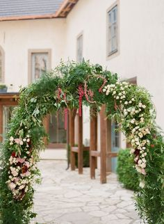 Festive holiday arch: Photography: Peter & Veronika - http://peterandveronika.com/language/en/