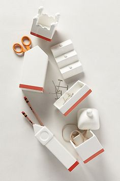 Architecture Desk Accessory from Anthropologie, I think I can make this in wood from scraps.  so cute.