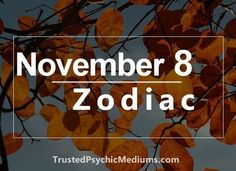 What is your Zodiac Sign if you were born on November 8? If you were born on November 8th, your zodiac sign is Scorpio. As a Scorpio born on November 8th, you are adaptable and versatile. You are also very likable. You like to be the center of attention. Not because you are an attention …
