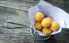 Learn how to make and prepare the recipe for Tirokroketes, also known as Greek fried cheese balls. Greek Appetizers, Finger Food Appetizers, Appetizer Recipes, Finger Foods, Fried Cheese Balls Recipe, Feta Cheese Recipes, Greek Fried Cheese, Babybel Cheese, Cheese Fries