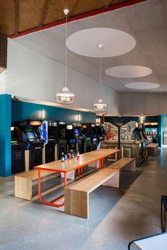 Design, Bitches creates eclectic LA restaurant filled with retro video games