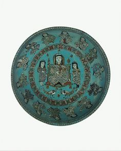 Mina'i bowl with a ruler and attendants. Iran, 12th-13th Century: Metropolitan Museum of Art.