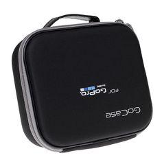 Accesorios gopro caso eva duro bolsa de tamaño medio caja para go pro hero 5 4 3 2 3 1 sjcam sj5000 cámara de acción gocase xiaomi yi