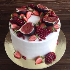 New fruit cake ideas baking desserts 26 ideas Pretty Cakes, Beautiful Cakes, Amazing Cakes, Cake Cookies, Cupcake Cakes, Bolos Naked Cake, Cake Recipes, Dessert Recipes, Think Food